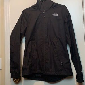 The north face black rain jacket